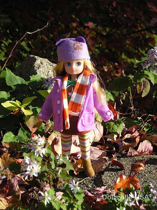 Autumn Leaves Lottie amidst, well, autumn leaves