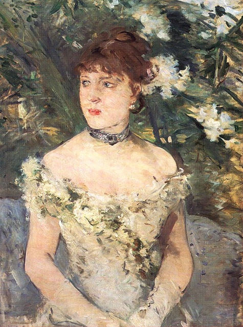 Young Girl in Ball Gown by Berthe Morisot, 1879