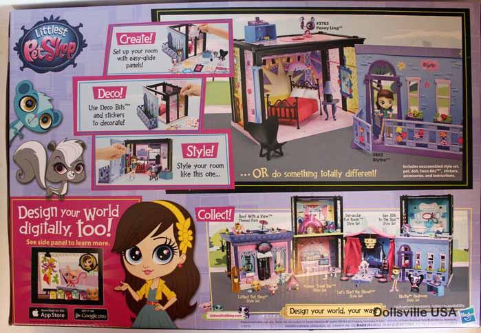 littlest pet shop blythe bedroom style set dollsville usa
