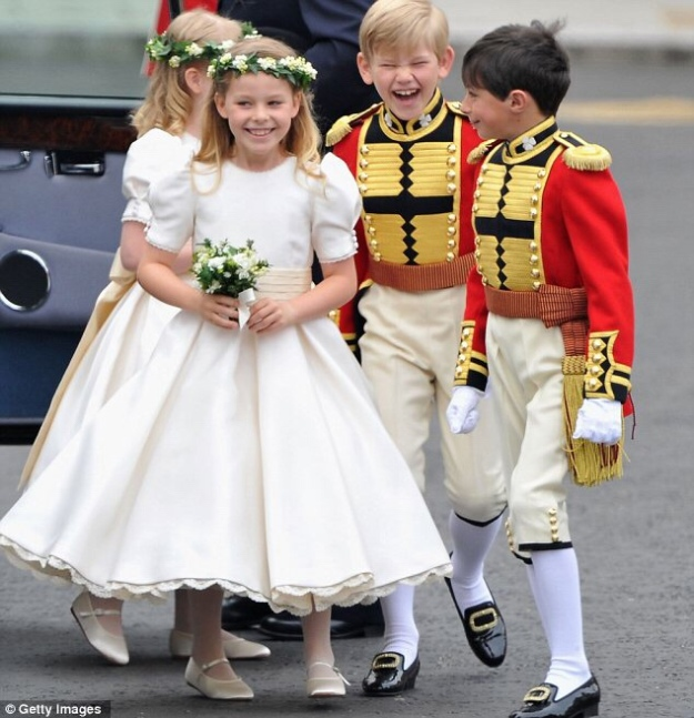 Kate Middleton's bridesmaids and pages, 2011